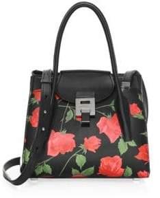 Michael Kors Medium Bandcroft Floral Leather Satchel