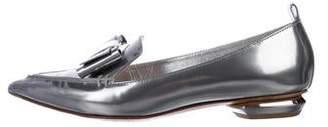 Nicholas Kirkwood Metallic Patent Leather Loafers