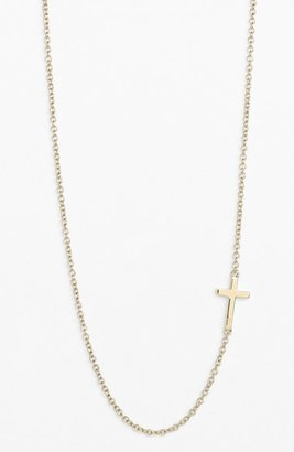 Women's Bony Levy Cross Station Necklace (Nordstrom Exclusive) $298 thestylecure.com