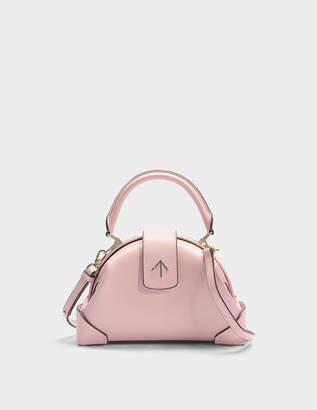 Atelier Manu Demi Top Handle Bag in Bubblegum Vegetable Tanned Calfskin