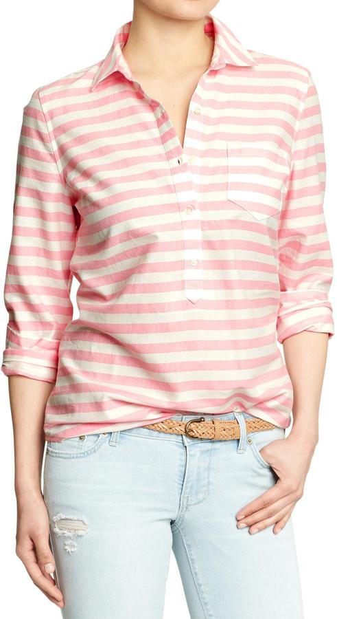 Old Navy Women's Striped Oxford Pullovers