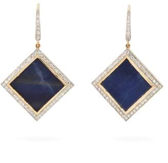 Jade Jagger 18kt gold, diamond & sapphire earrings