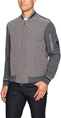 Armani Exchange A|X Men's Quilted Varsity Bomber