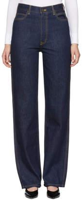 Calvin Klein Blue High-Rise Straight Jeans