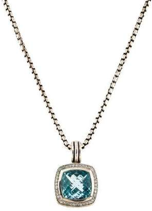David Yurman Albion Topaz & Diamond Pendant Necklace