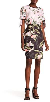 Ted Baker Peaches Ruffled Pencil Skirt