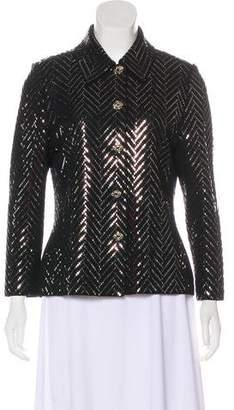 St. John Sequin Long Sleeve Jacket