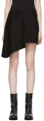 Yohji Yamamoto Black Left Gore Bias Skirt