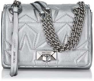 Jimmy Choo HELIA SHOULDER BAG/S Anthracite Star Matelasse Metallic Nappa Shoulder Bag with Chain Srap