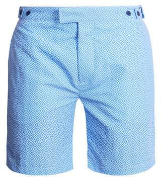 Frescobol Carioca Tailored Angra Print Swim Shorts - Mens - Blue