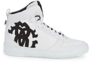 Roberto Cavalli High-Top Leather Sneakers
