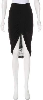 Helmut Lang Ruched Knee-Length Skirt w/ Tags