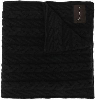 Billionaire cable knit scarf