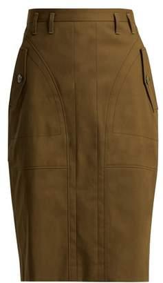 Altuzarra Winterland Panelled Cotton Skirt - Womens - Dark Green