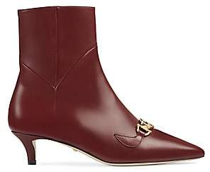 Gucci Women's Leather Zumi Booties