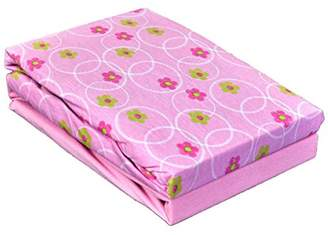 Chicco Dudu N Girlie Cotton Next2Me Crib Fitted Sheets, Flower Pink, 2-Piece