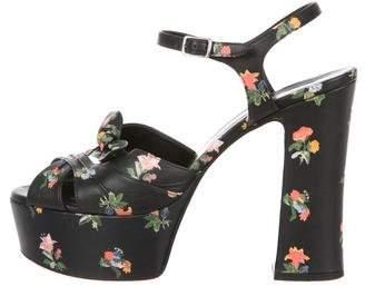 Saint Laurent Candy Floral Platform Sandals