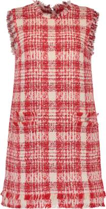 MSGM Tweed Shift Dress