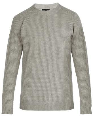 Howlin' - Crew Neck Ribbed Knit Wool Sweater - Mens - Grey