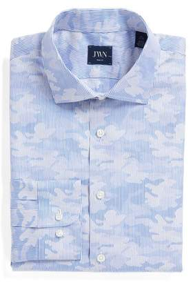John W. Nordstrom R) Trim Fit Camo Dress Shirt
