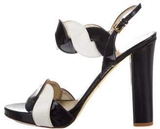 Valentino Platform Patent Leather Sandals