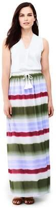 Lands' End Purple Petite Woven Maxi Skirt