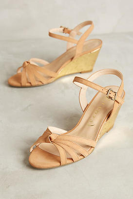 Anthropologie Vicenza Gold Cork Wedges $138 thestylecure.com