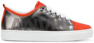 Lanvin metallic low-top sneakers