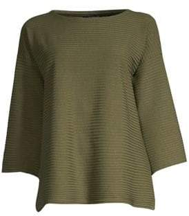 Eileen Fisher Ribbed Boxy Top