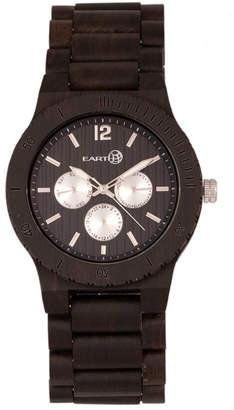 Earth Wood Bonsai Wood Bracelet Watch W/Day/Date Brown 45Mm