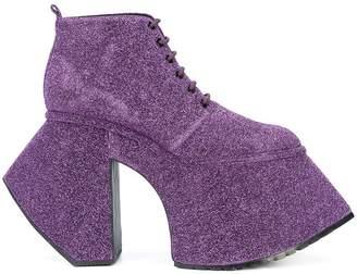 Rob-ert Robert Wun lace-up platform ankle boots