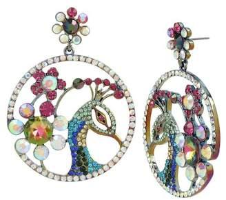 Betsey Johnson Colorful Peacock Drop Earrings