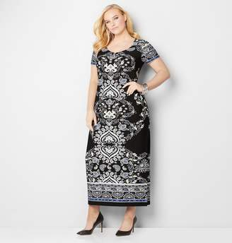 Avenue Paisley Scroll Maxi Dress