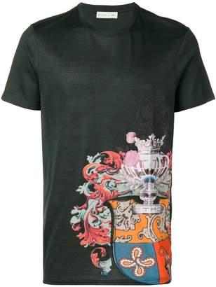 Etro crest emblem printed T-shirt