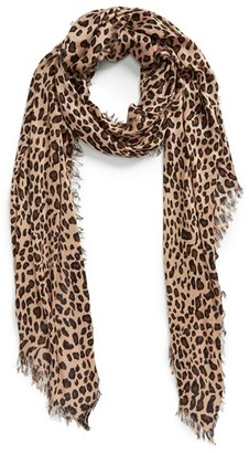 Women's Sole Society Leopard Print Scarf $29.95 thestylecure.com
