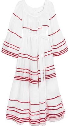 Lisa Marie Fernandez - Ric Rac-trimmed Linen Maxi Dress - White $1,025 thestylecure.com