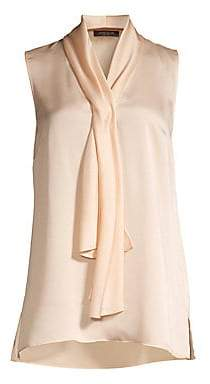 Lafayette 148 New York Women's Tinley Tie Front Sleeveless Blouse