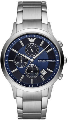 Emporio Armani Men Chronograph Stainless Steel Bracelet Watch 43mm