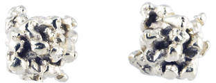 Michelle Oh Little Stud Earrings In 9k White Gold