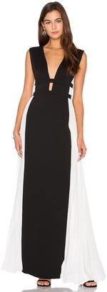 BCBGMAXAZRIA Colorblock Gown $368 thestylecure.com