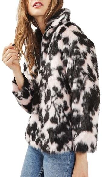 TopshopWomen's Topshop Sweet Dreams Faux Fur Coat