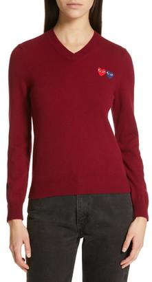Comme des Garcons Wool V-Neck Sweater