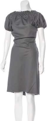 David Szeto Ruched-Accented Maxi Dress