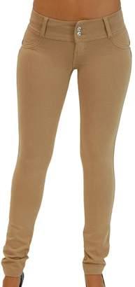 Jumojufol Women's Push Up Stretch Tight Legging Long Pants XS