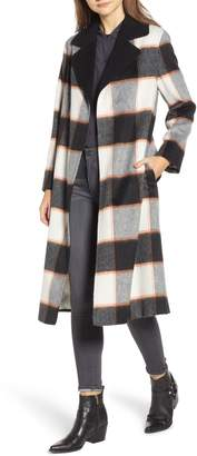 Helene Berman Ruth Plaid Contrast Collar Coat