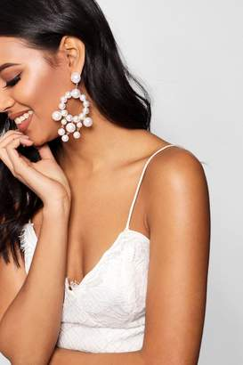 boohoo Statement Pearl Earrings