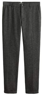 Mango Man MANGO MAN Herringboned regular-fit trousers