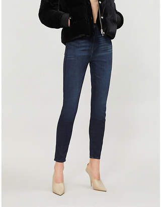 Good American Good Waist Crop skinny ultra high-rise jeans
