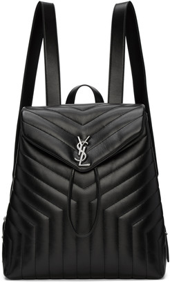 Saint Laurent Black Medium Monogram Loulou Backpack $1,990 thestylecure.com