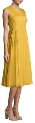 Max Mara Fabiola Pleated Flare Dress
